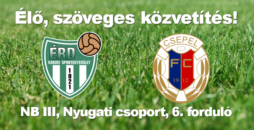 Érdi VSE–Csepel FC – élő közvetítés!