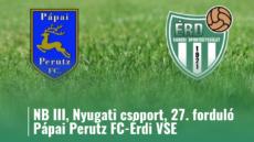 Pápai Perutz FC-Érdi VSE – élő!