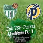 A Puskás II ellen játszunk utoljára hazai pályán!